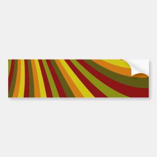 Groovy Red Yellow Orange Green Stripes Pattern Bumper Sticker