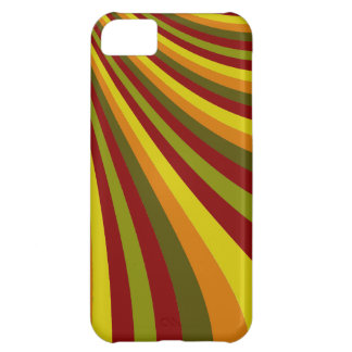 Groovy Red Yellow Orange Green Stripes Pattern Case For iPhone 5C