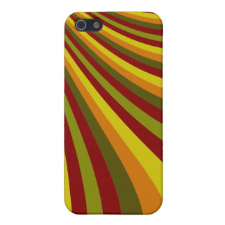 Groovy Red Yellow Orange Green Stripes Pattern iPhone SE/5/5s Cover