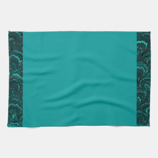 Groovy Retro Abstract Swirl Teal Peacock Turquoise Hand Towels. Teal Kitchen Towels   Zazzle