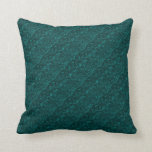 Groovy Retro Abstract Swirls Aquamarine Teal Throw Pillow