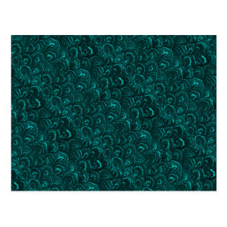 Groovy Retro Abstract Swirls Aquamarine Teal Postcard