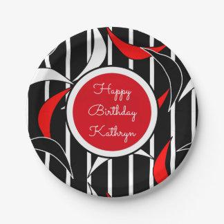 Groovy Retro Birthday Paper Plate
