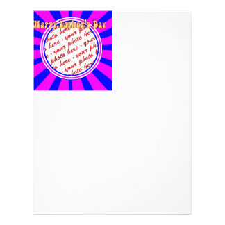 Groovy Retro Blue Pink Father s Day Frame Flyers