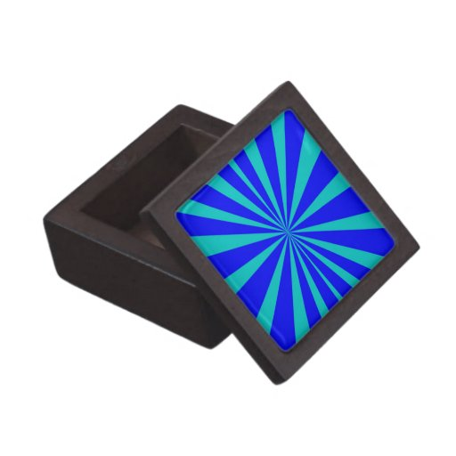 Groovy Retro Blues Background Premium Keepsake Boxes