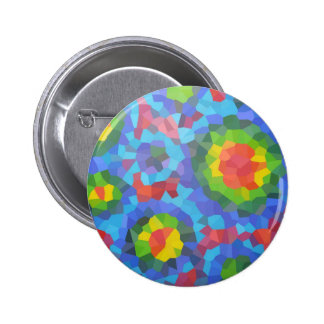 Groovy Retro Crystallized Circles Button