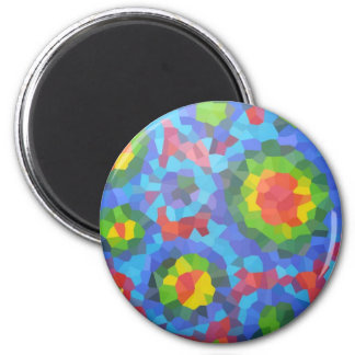 Groovy Retro Crystallized Circles Magnet