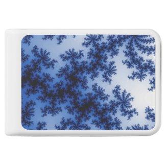 Groovy Retro Delft Blue Fractal Art