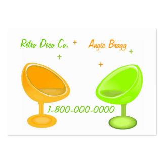 Groovy Retro Designer Large Business Card
