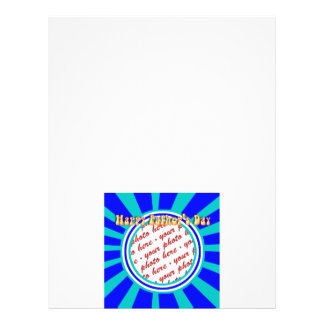 Groovy Retro Father s Day Blue Photo Frame Flyers