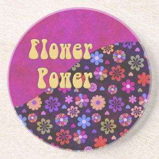 Groovy Retro Flower Power 60s 70s Drink Coaster