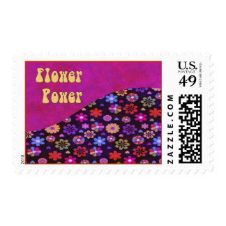 Groovy Retro Flower Power 60s 70s Stamps