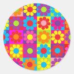 Groovy Retro Flower Power Sticker