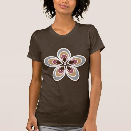Groovy Retro Flower With Art Deco Twist T-Shirt