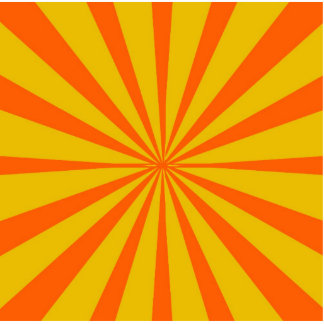 Groovy Retro Gold & Orange Background Cut Out