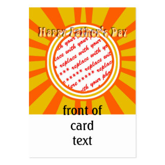 Groovy Retro Gold Orange Father s Day Frame Business Card Templates