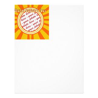 Groovy Retro Gold Orange Father s Day Frame Flyer Design