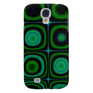 Groovy Retro Green Dots Circles Hippie Pop Pattern Galaxy S4 Cover