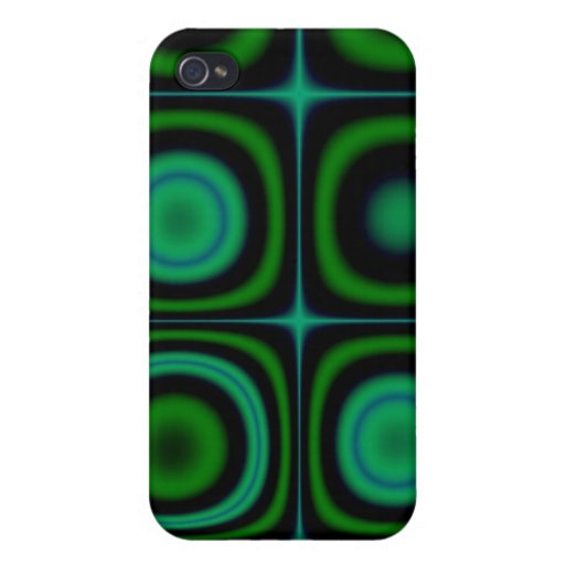 Groovy Retro Green Dots Circles Hippie Pop Pattern iPhone 4 Cover