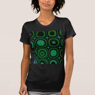 Groovy Retro Green Dots Circles Hippie Pop Pattern T-shirts