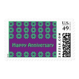 groovy retro Happy Anniversary Stamp
