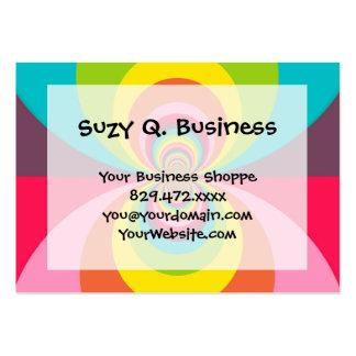 Groovy Retro Hippie Vintage Rainbow Kaleidoscope Large Business Card