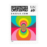 Groovy Retro Hippie Vintage Rainbow Kaleidoscope Postage Stamp