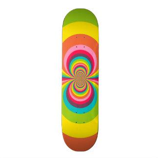 Groovy Retro Hippie Vintage Rainbow Kaleidoscope Skateboard Deck
