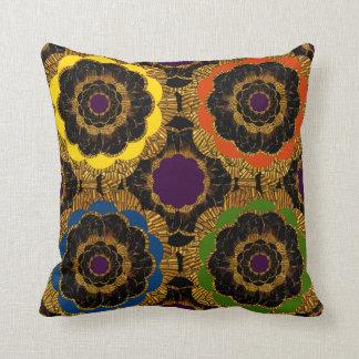 Groovy retro mod flower hippy cushion pillow