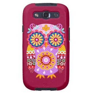 Groovy Retro Owl Art Samsung Galaxy SIII Case