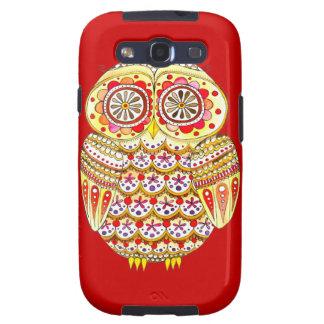 Groovy Retro Owl Art Samsung Galaxy SIII Cases