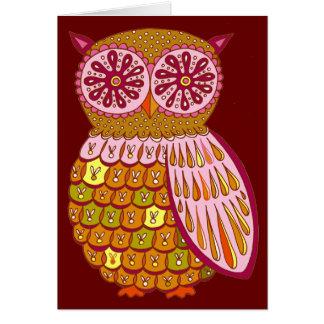Groovy Retro Owl Cards