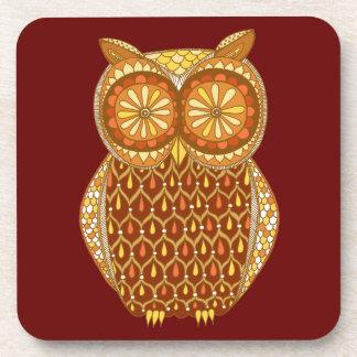 Groovy Retro Owl Coasters - Set of 6