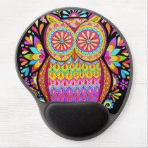 Groovy Retro Owl Gel Mousepad - Cute Colorful Owl!