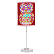 Groovy Retro Owl Lamp - Cute Colorful Whimsical!