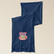 Groovy Retro Owl Scarf - Colorful!