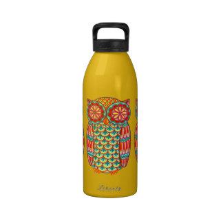Groovy Retro Owl Water Bottle Water Bottle