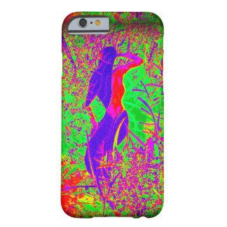 groovy retro purple hippie mermaid barely there iPhone 6 case