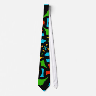 Groovy Retro Puzzle Abstract Tie