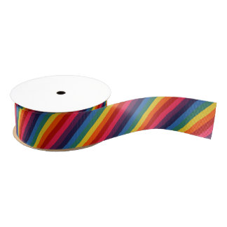 Groovy Retro Rainbow Ribbon