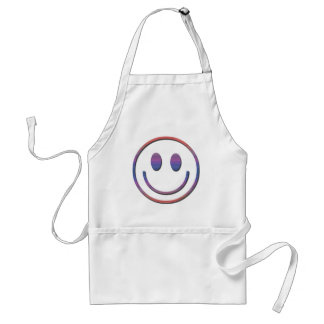 Groovy Retro Smiley Face Adult Apron