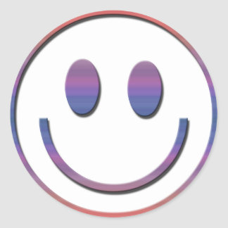 Groovy Retro Smiley Face Round Sticker