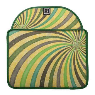 Groovy Retro Spiral Sunbeam Ray Swirl Design MacBook Pro Sleeve
