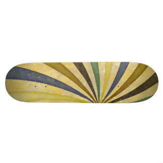 Groovy Retro Spiral Sunbeam Ray Swirl Design Skateboard Deck