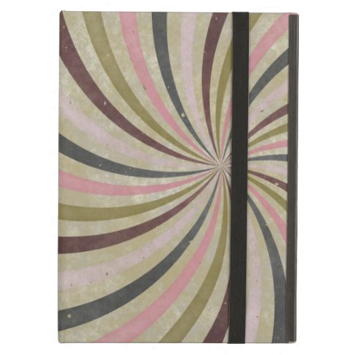 Groovy Retro Spiral Sunbeam Ray Swirl iPad Folio Cases