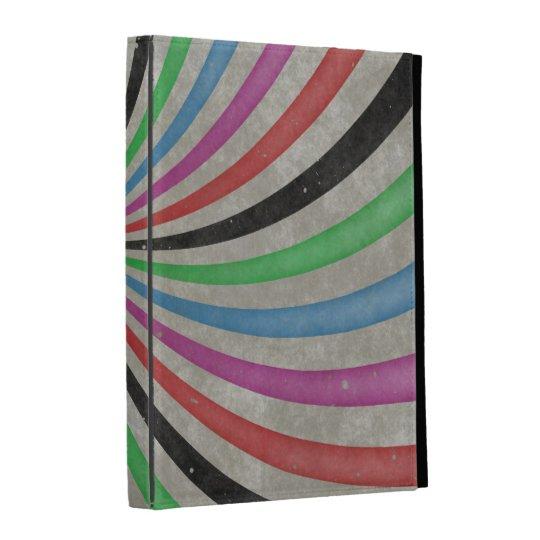 Groovy Retro Spiral Sunbeam Ray Swirl iPad Folio Cover