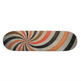 Groovy Retro Spiral Sunbeam Ray Swirl Skateboard Deck