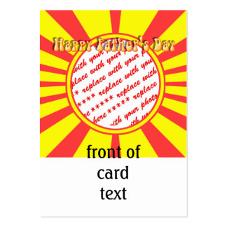 Groovy Retro Yellow Red Father s Day Frame Business Card Template