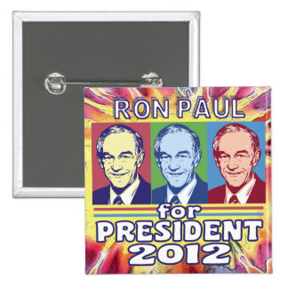 Groovy Ron Paul for President Buttons