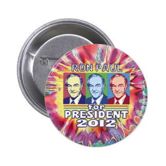 Groovy Ron Paul for President Pinback Buttons
